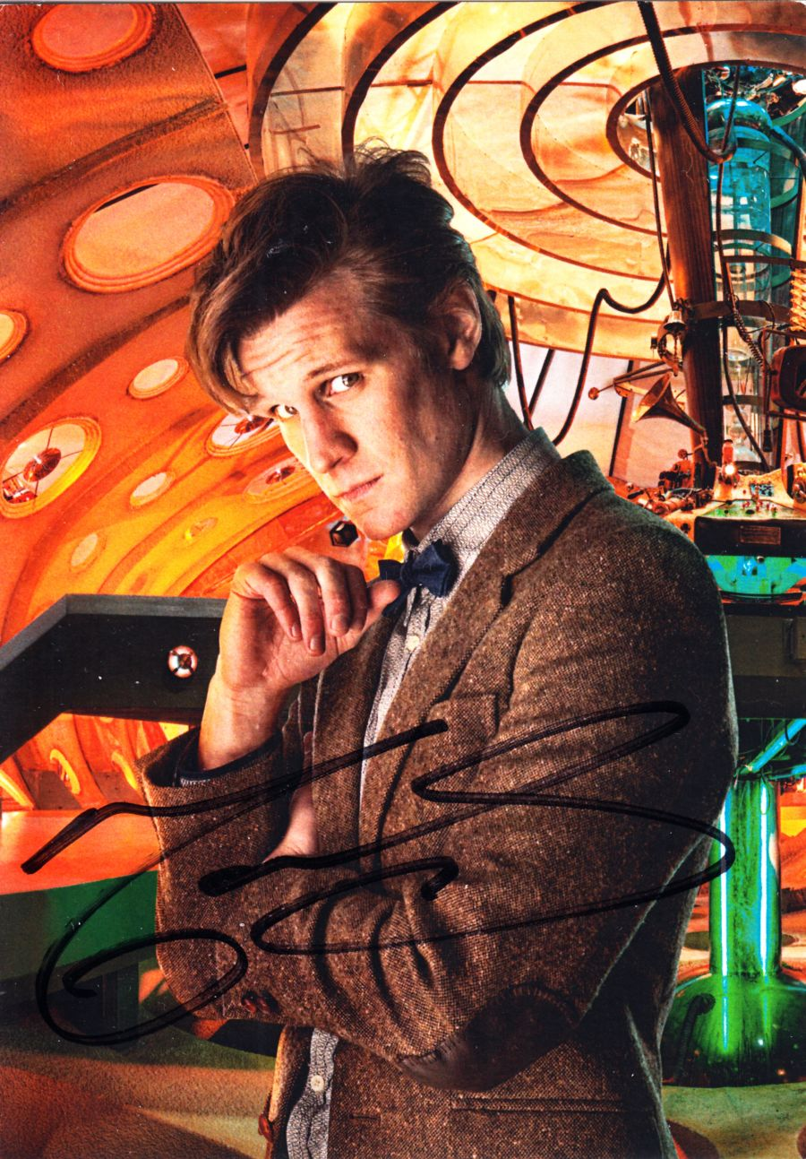 Doctor Who Matt Smith Signed The 11th Dr BBC Official Autograph Cast Postcard