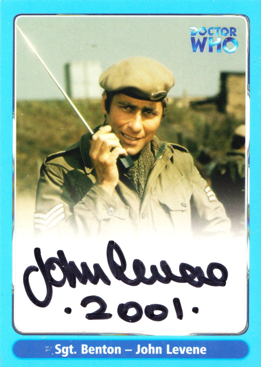 Doctor Who John Levene as Sgt Benton A9 Auto Card Autograph Strictly Ink