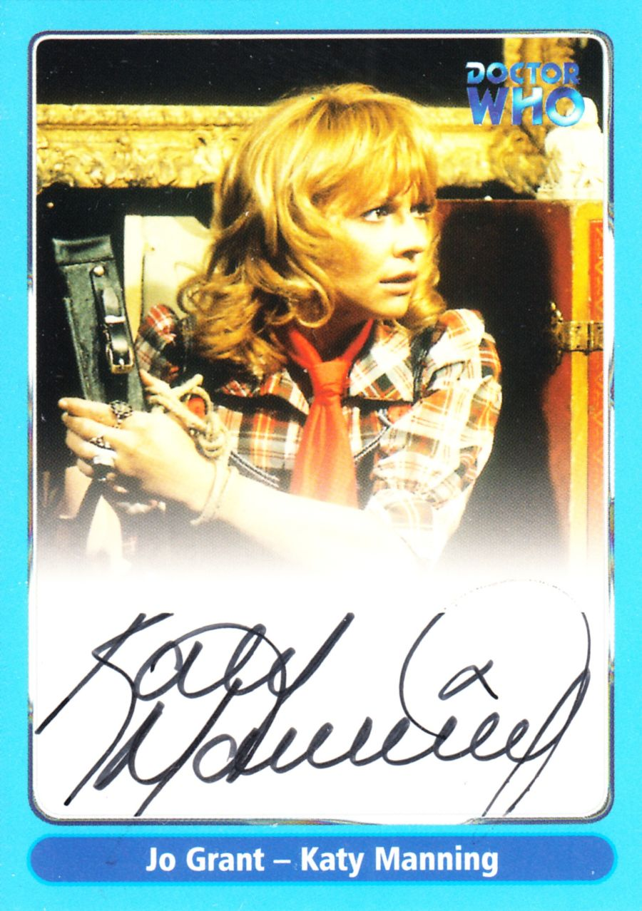 Doctor Who Katy Manning as Jo Grant A11 Auto Card Autograph Strictly Ink
