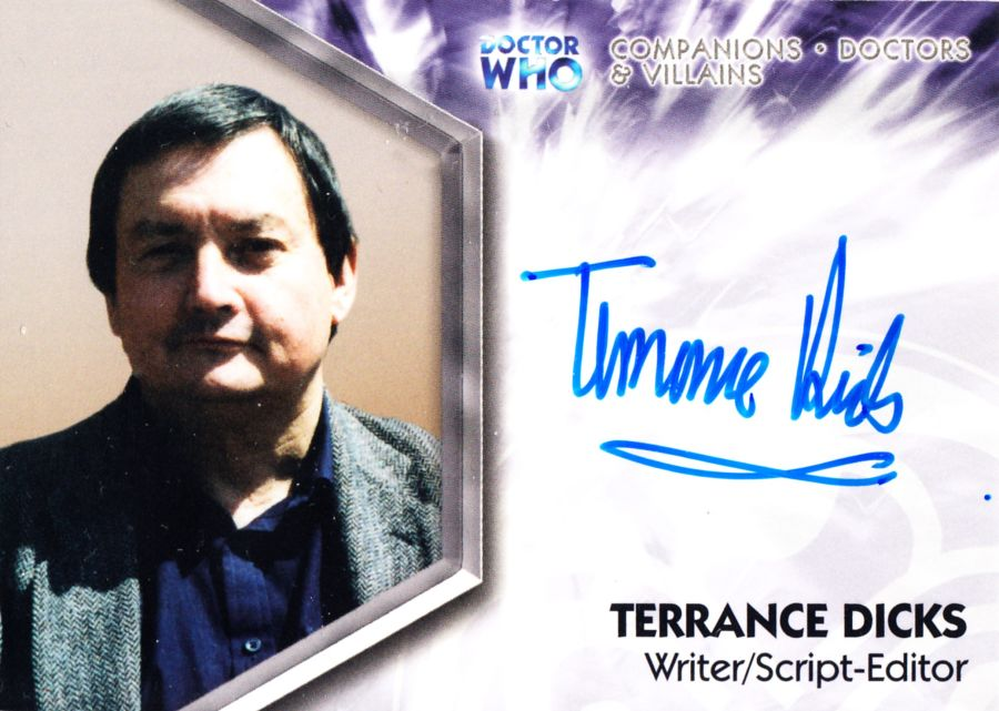 Strictly Ink Doctor Who Writer Terrance Dicks Autograph Auto Card DWT-A7