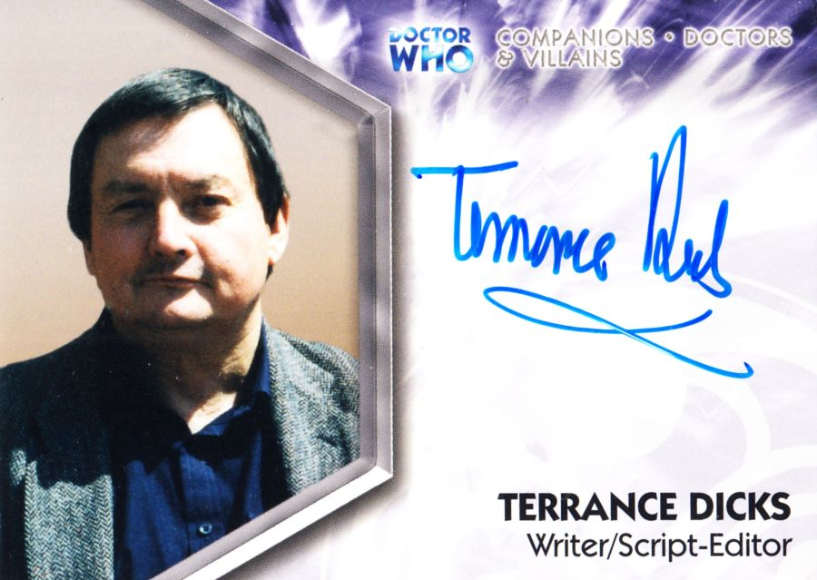 Doctor Who Writer Terrance Dicks Autograph Auto Card DWT-A7 Strictly Ink