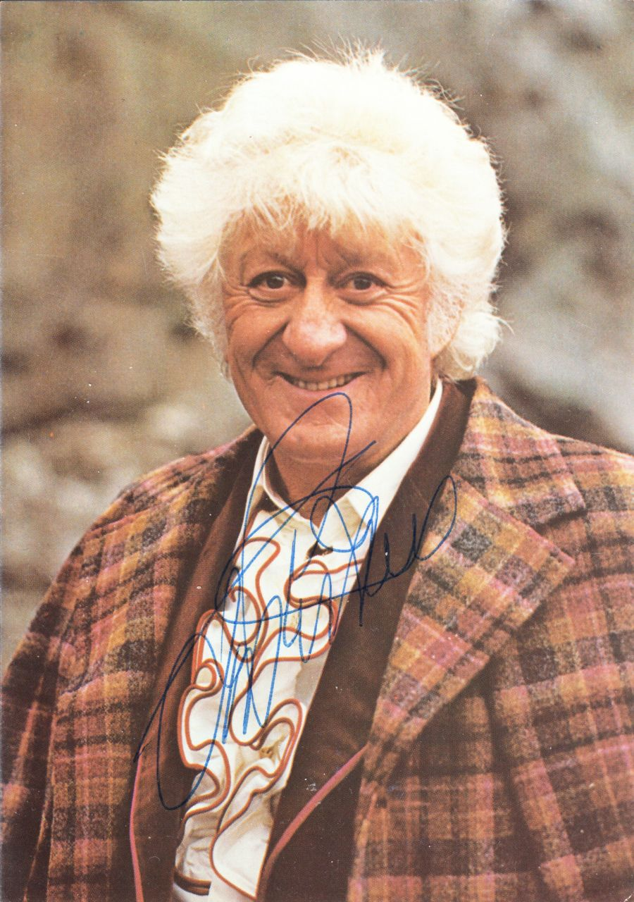 Jon Pertwee Signed The 3rd Dr BBC Official Doctor Who Autograph Postcard