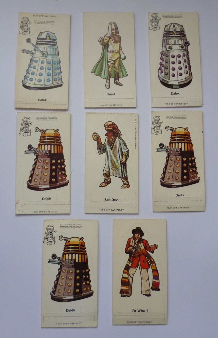 Original Doctor Who 1975 Weetabix Cereal 32 Carded Figures