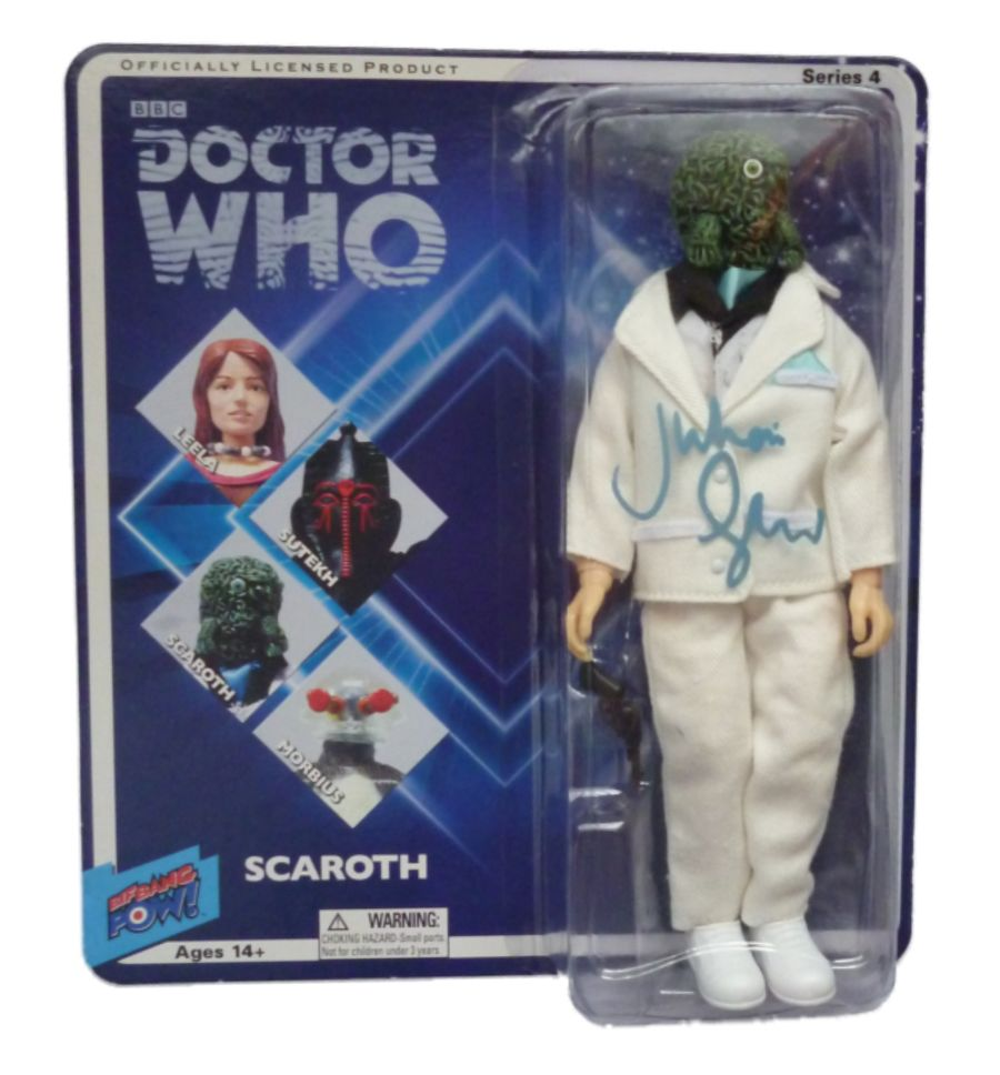 Doctor Who Scaroth Action Figure Signed By Julian Glover Bif Bang Pow