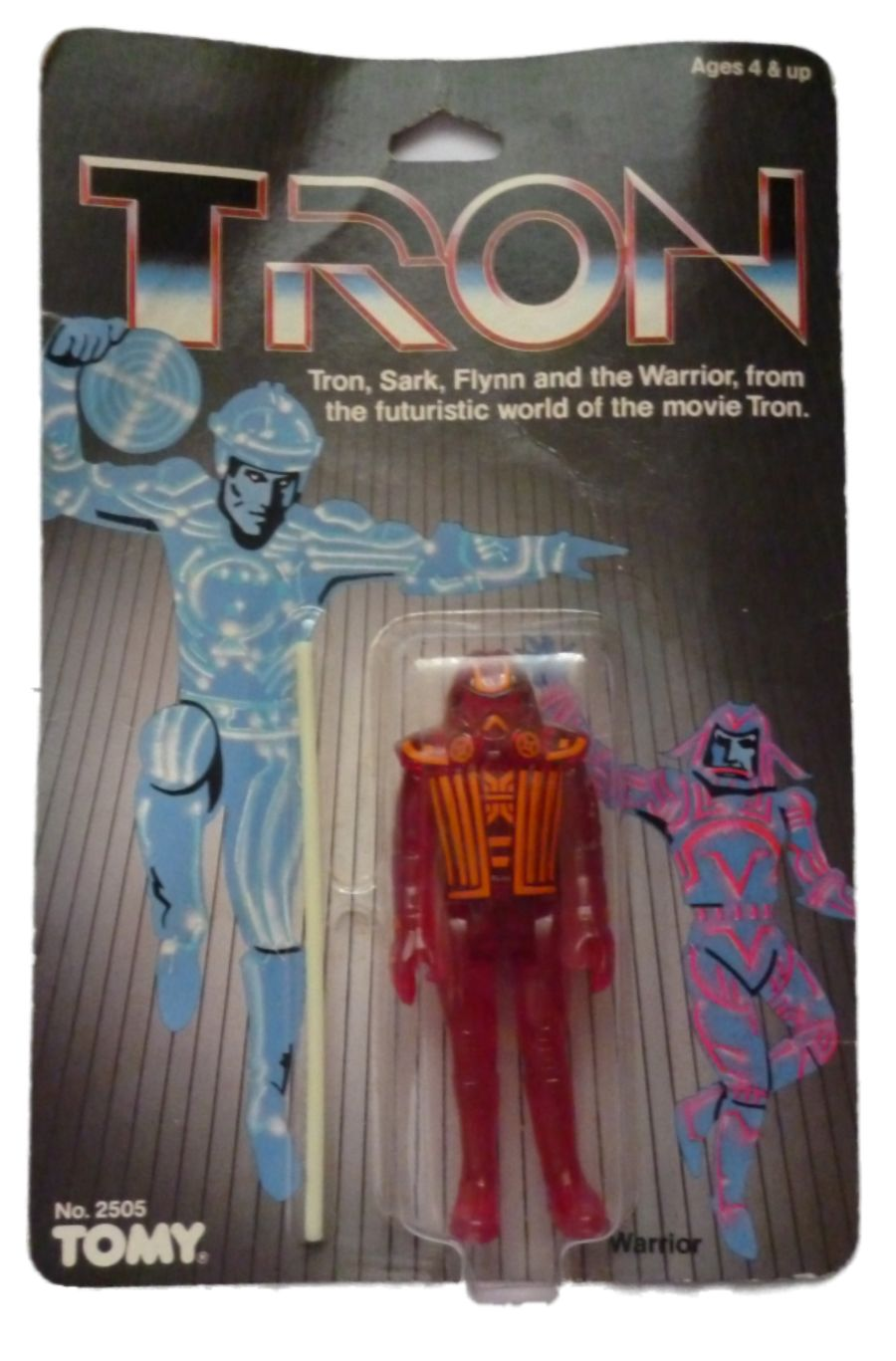 Vintage Tomy Tron Movie Warrior Action Figure 1982 MOC