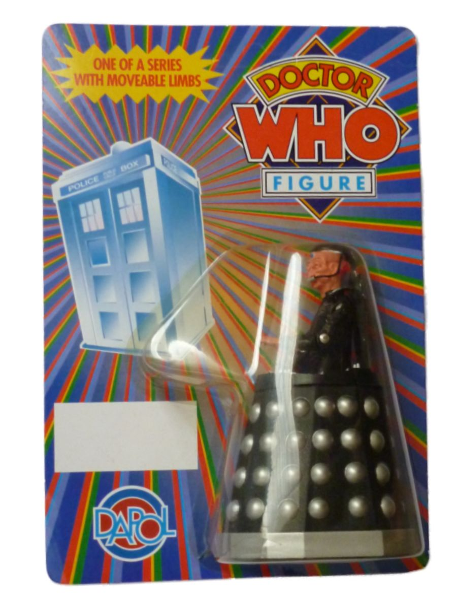 Dapol Doctor Who Two Handed Davros Carded Figure 1987 MOC Unpunched
