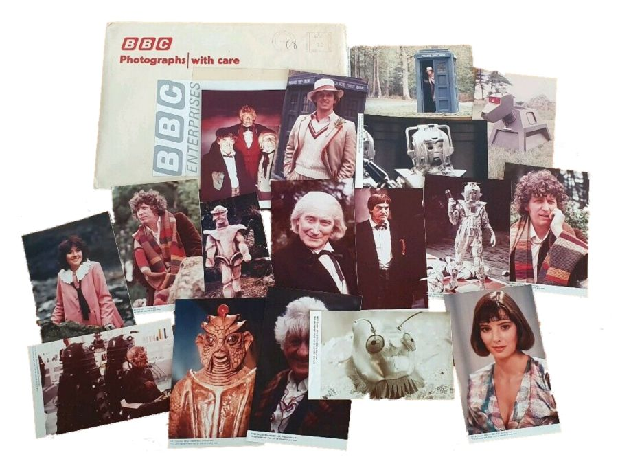 Classic Doctor Who Collection of 17 x Photographs from BBC Enterprises 1980s
