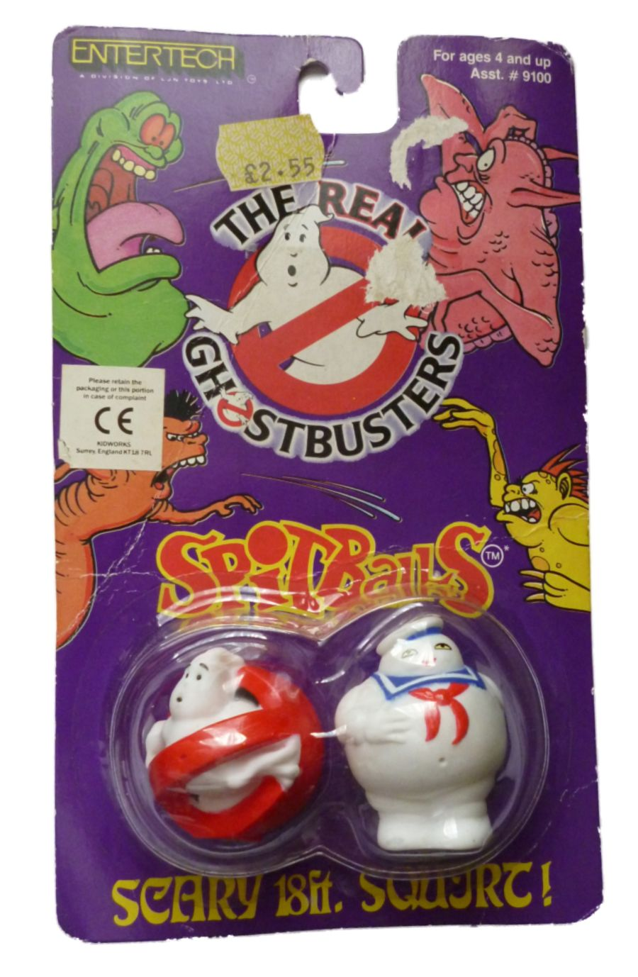 Original The Real Ghostbusters 1986 Entertech Spitballs Sealed