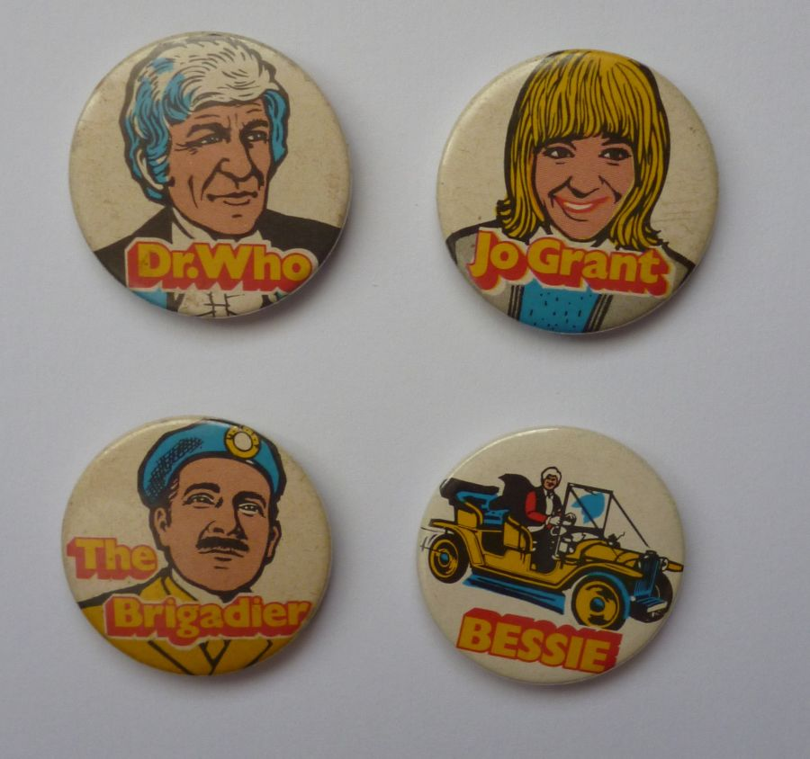 Classic Original Doctor Who Kelloggs Sugar Smacks Badges 1971