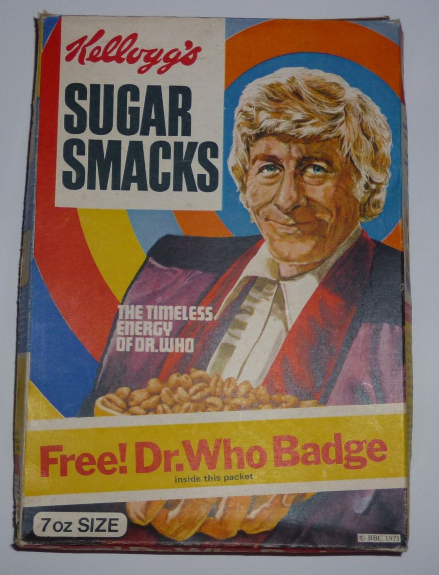 Classic Original Doctor Who Kelloggs Sugar Smacks Empty Box 1971