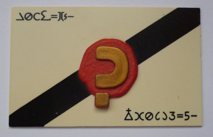 Doctor Who Dapol 7th Dr's Calling Card Prop Replica Prototype
