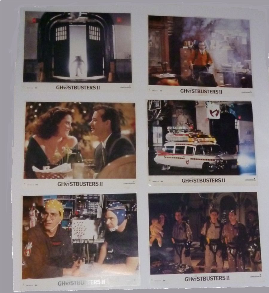 Ghostbusters II Set of 8 Colour UK Lobby Cards 1989