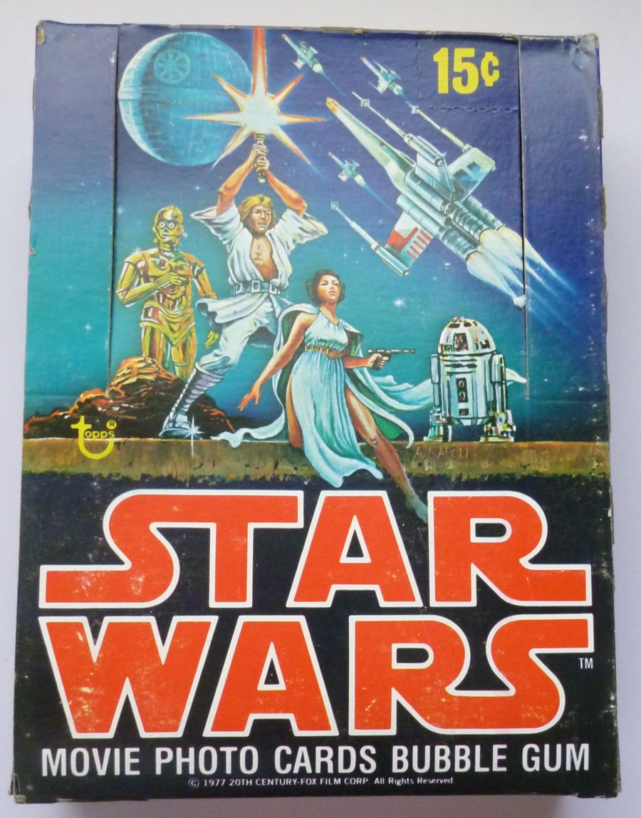 1977 Topps STAR WARS 1ST SERIES Empty Display Wax Pack Box