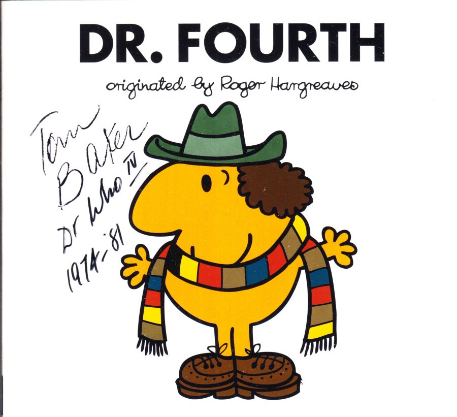 Tom Baker Signed Mr Men DR. Fourth Doctor Who First Edition Book