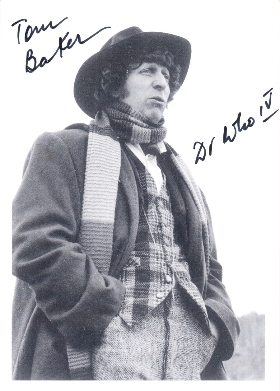 Tom Baker Signed The 4th Dr BBC Doctor Who Autograph Postcard Undedicated