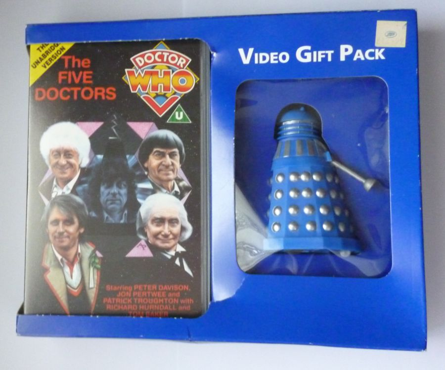 Doctor Who Dapol Boots Dalek The Five Doctors Video Gift Set VHS Still Sealed