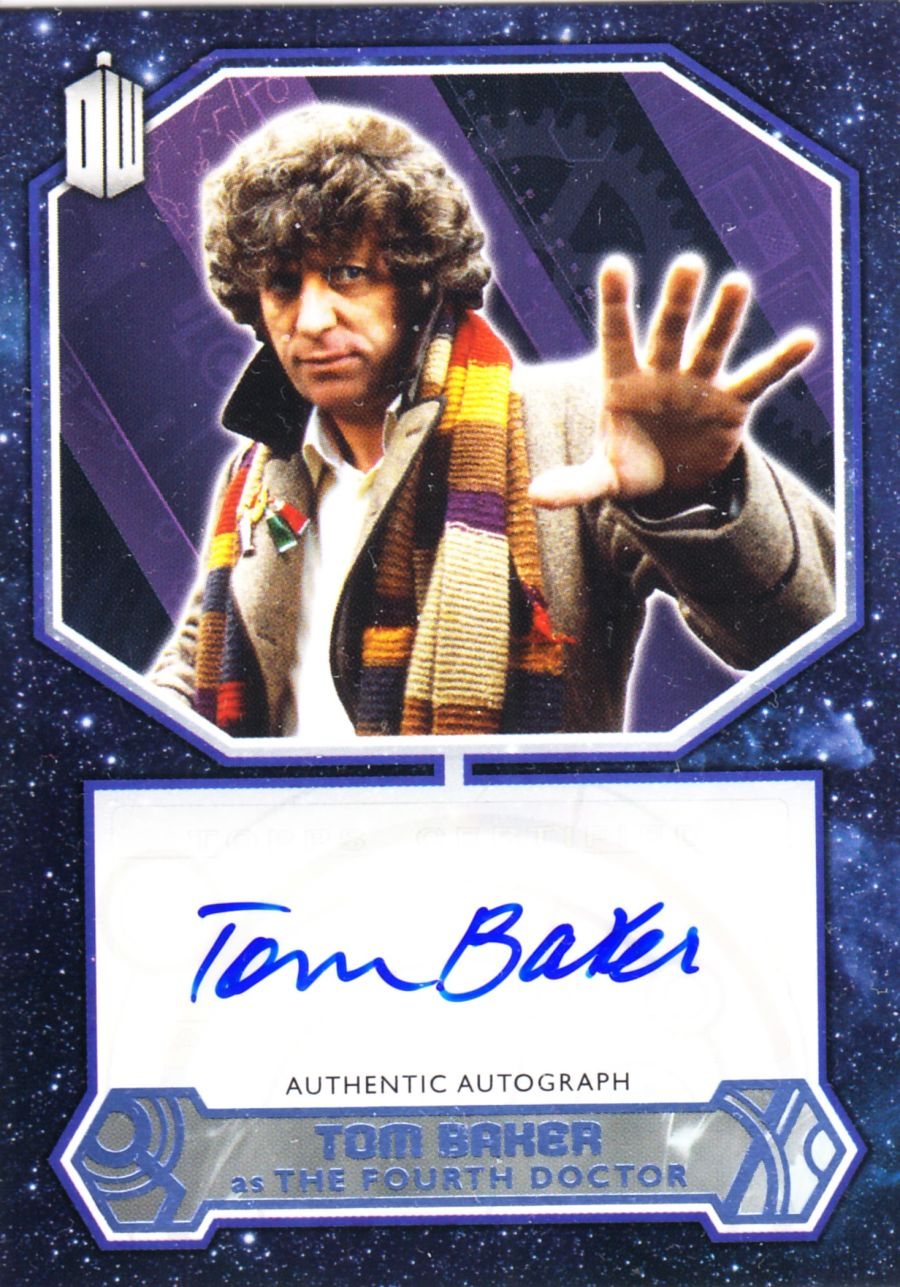 TOPPS DR WHO TOM BAKER AUTO THE FOURTH DOCTOR WHO 17 OUT OF 25