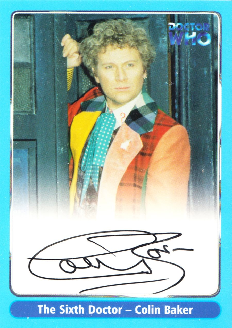 Colin Baker Signed Doctor Who The Sixth Dr Autograph Auto Card A3