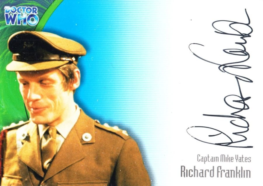 Richard Franklin Signed Doctor Who Captain Mike Yates Autograph Auto Card
