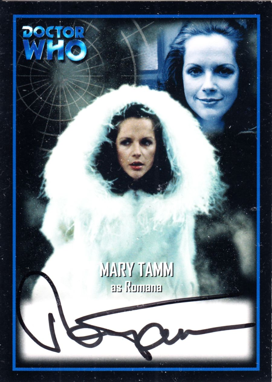 Mary Tamm Signed Romana Doctor Who Autograph Auto Card AU6