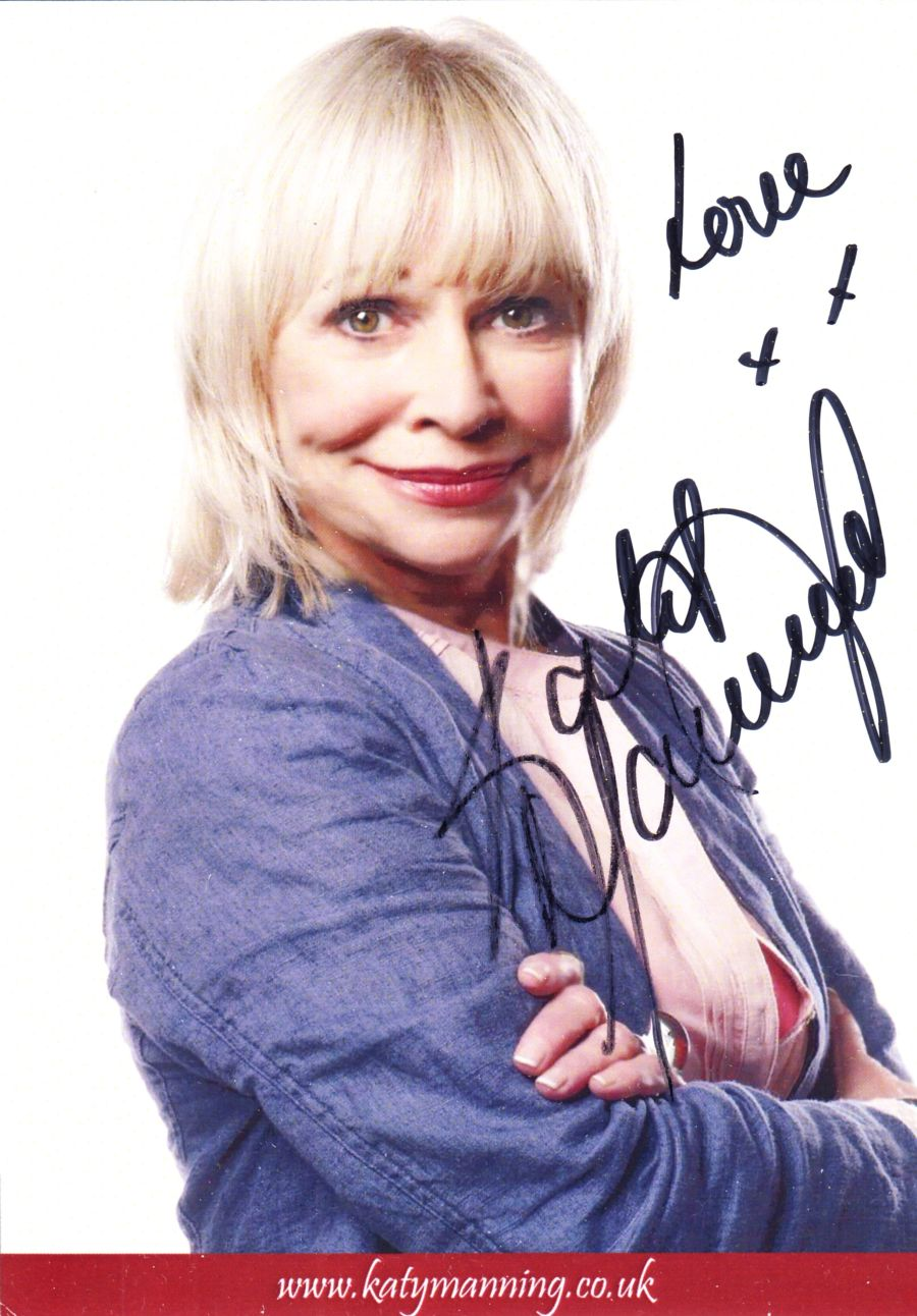 Katy Manning Signed Jo Grant Doctor Who Autograph Card Undedicated