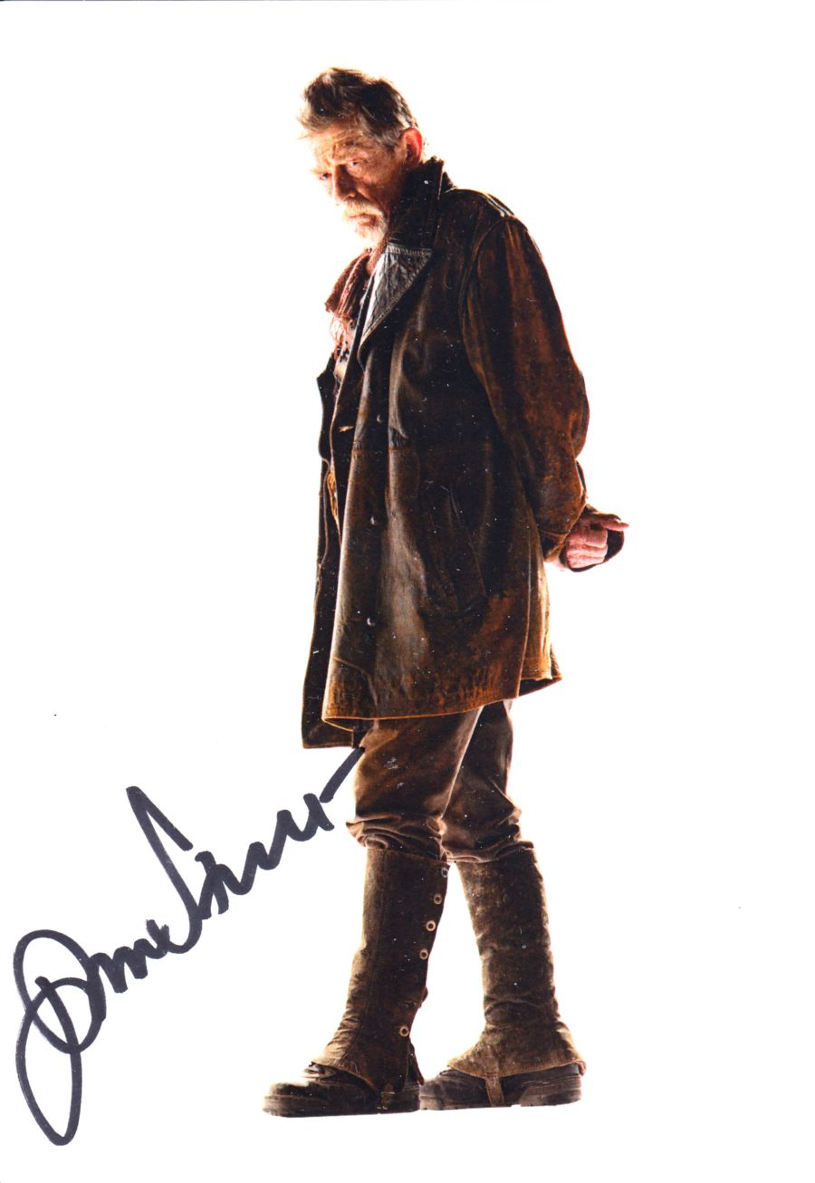 Doctor Who John Hurt Signed The War Dr BBC Official Autograph Cast Postcard