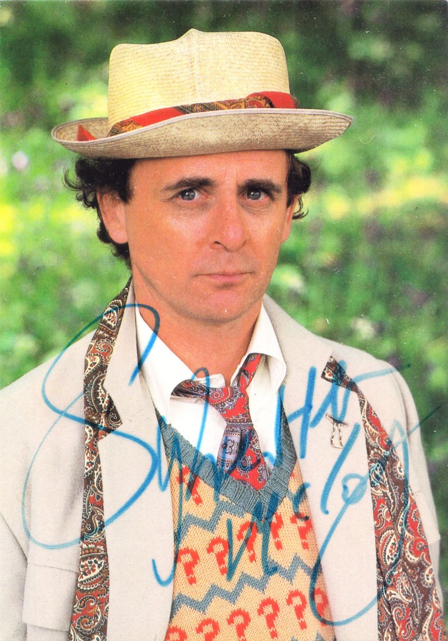 7th Dr Sylvester McCoy Signed BBC Doctor Who Autograph Postcard