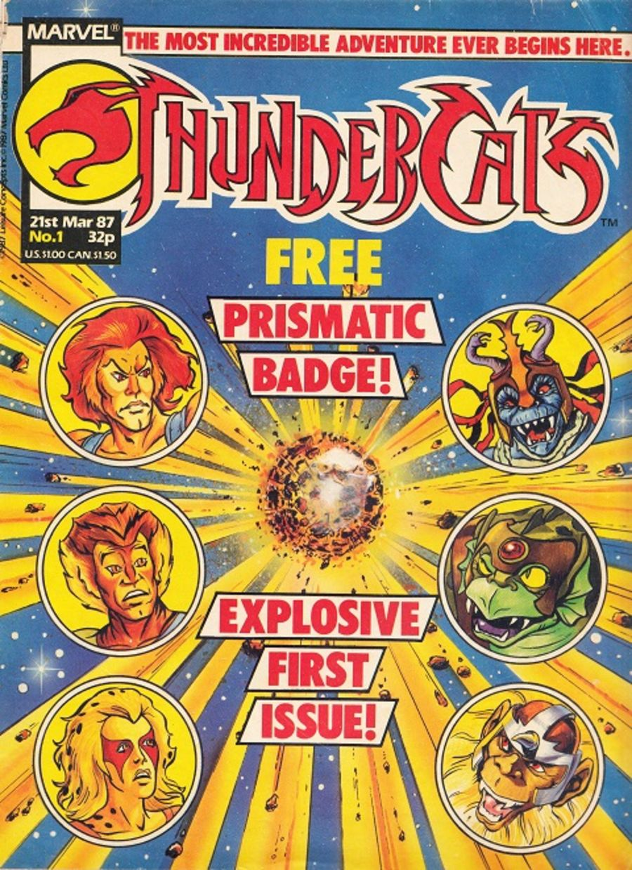 Thundercats Comic Issue 1 Marvel 21st March 1987