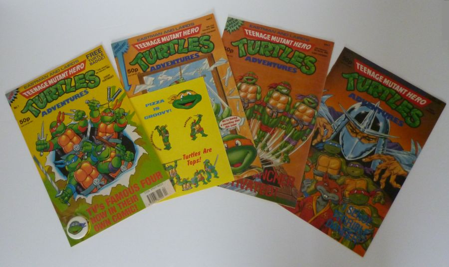 Teenage Mutant Hero Turtles Adventures #1 #2 #3 and #4 UK comic magazines
