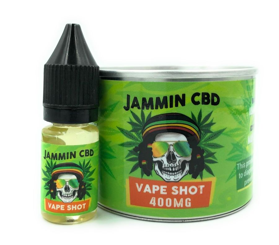 Jammin CBD Vape Shot Unflavoured E liquid Oil Juice 400mg 10ml