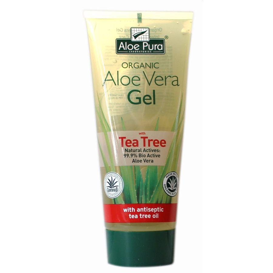 Aloe Pura Organic Aloe Vera & Tea Tree Gel 200mls