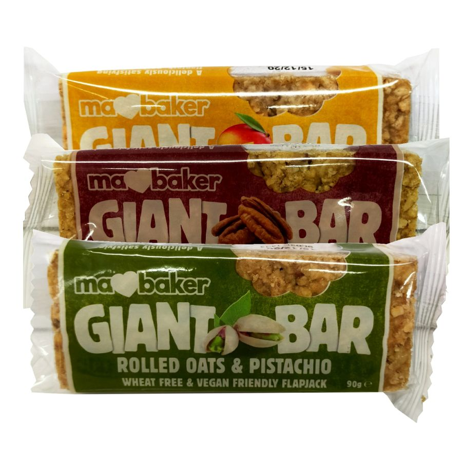Ma Baker Fruit, Nut or Tropical Flavours Giant Bars 90g