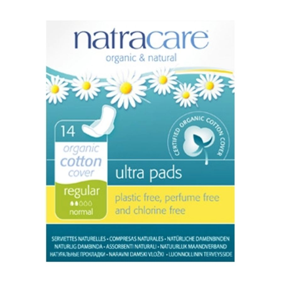Natracare 14 Ultra Regular Period Pads with wings