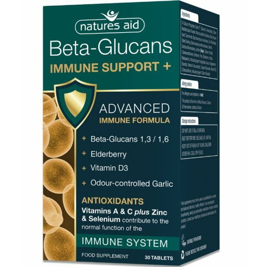 Natures Aid Beta Glucans Immune Support 30 tablets