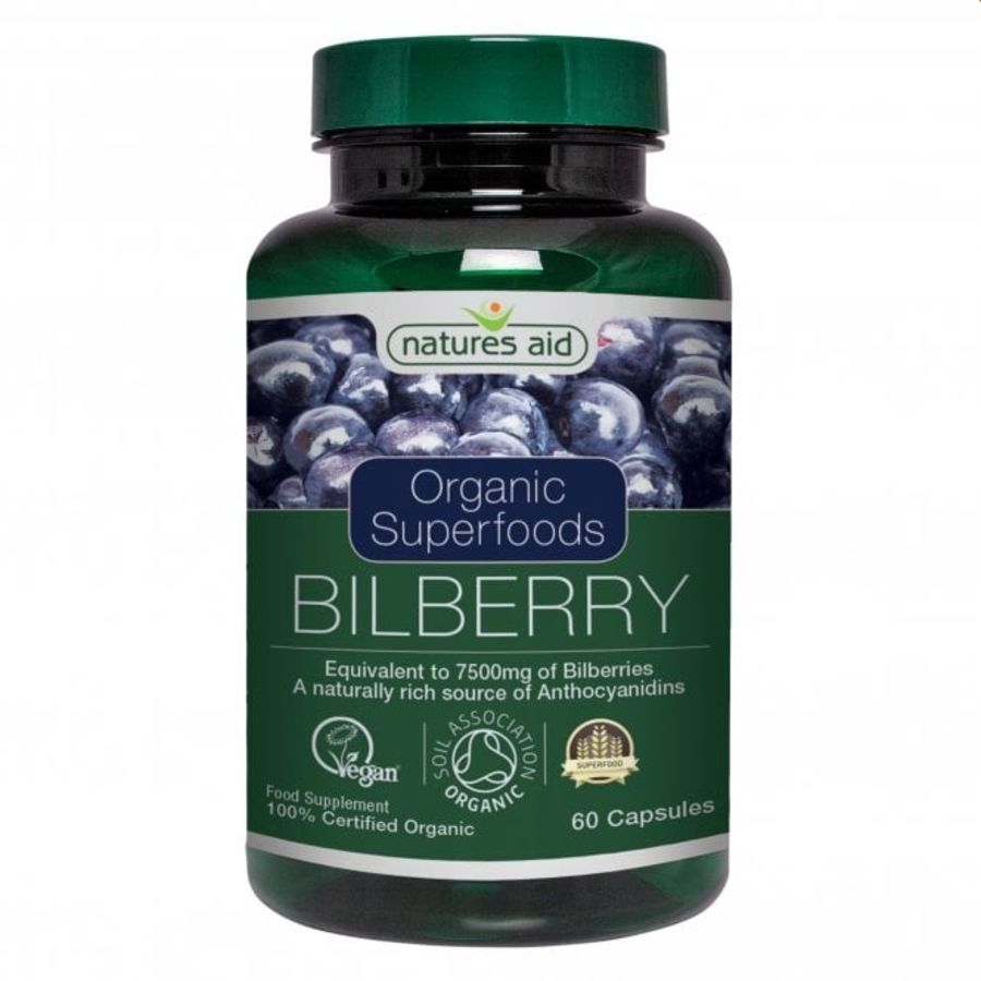 Natures Aid Bilberry 5000 Mg 60 capsules
