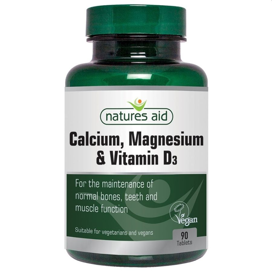 Natures Aid Calcium Magnesium & Vitamin D3 90 tablets