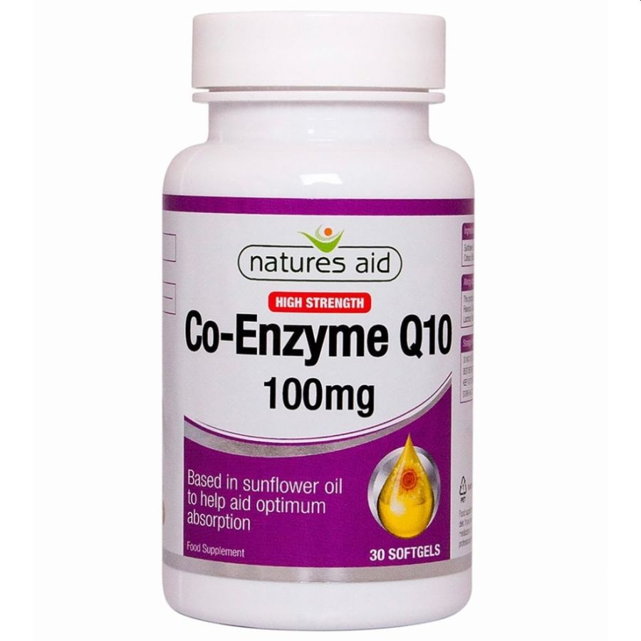 Natures Aid Coenzyme Q10 100mg 45 capsules