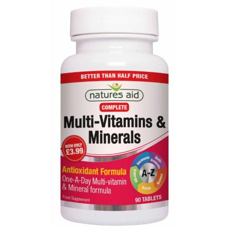 Natures Aid Complete Multivitamin & Minerals Antioxidant Formula 90 tablets