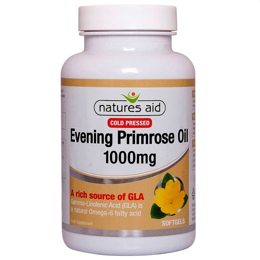 Natures Aid Evening Primrose 1000mg (80mg GLA) 90 softgels