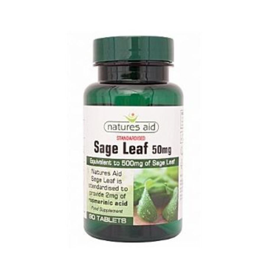 Natures Aid Sage Leaf 50mg 90 tablets