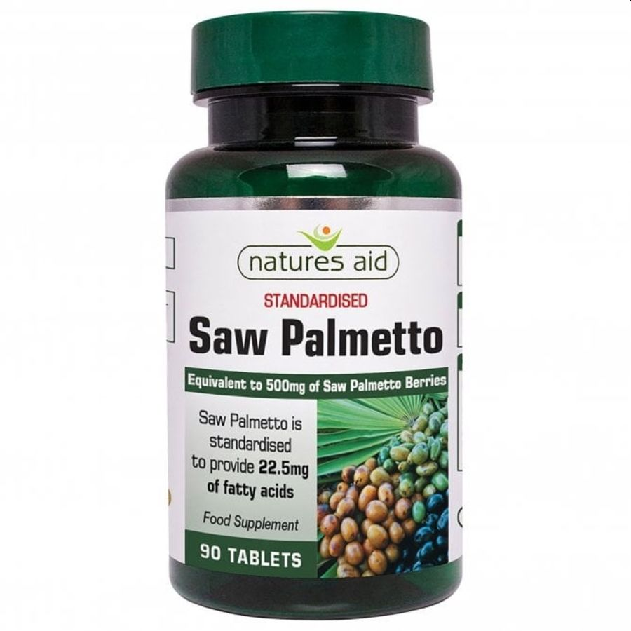 Natures Aid Saw Palmetto 500mg 90 tablets