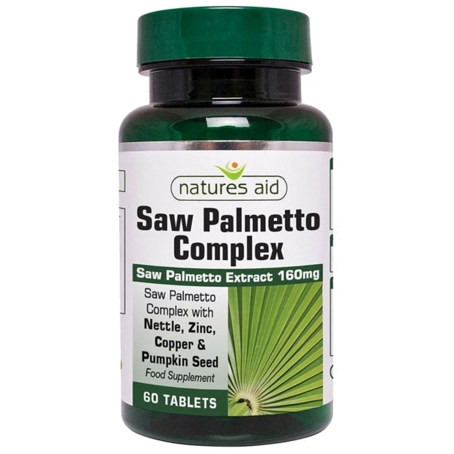 Natures Aid Saw Palmetto Complex For Men 120 tablets