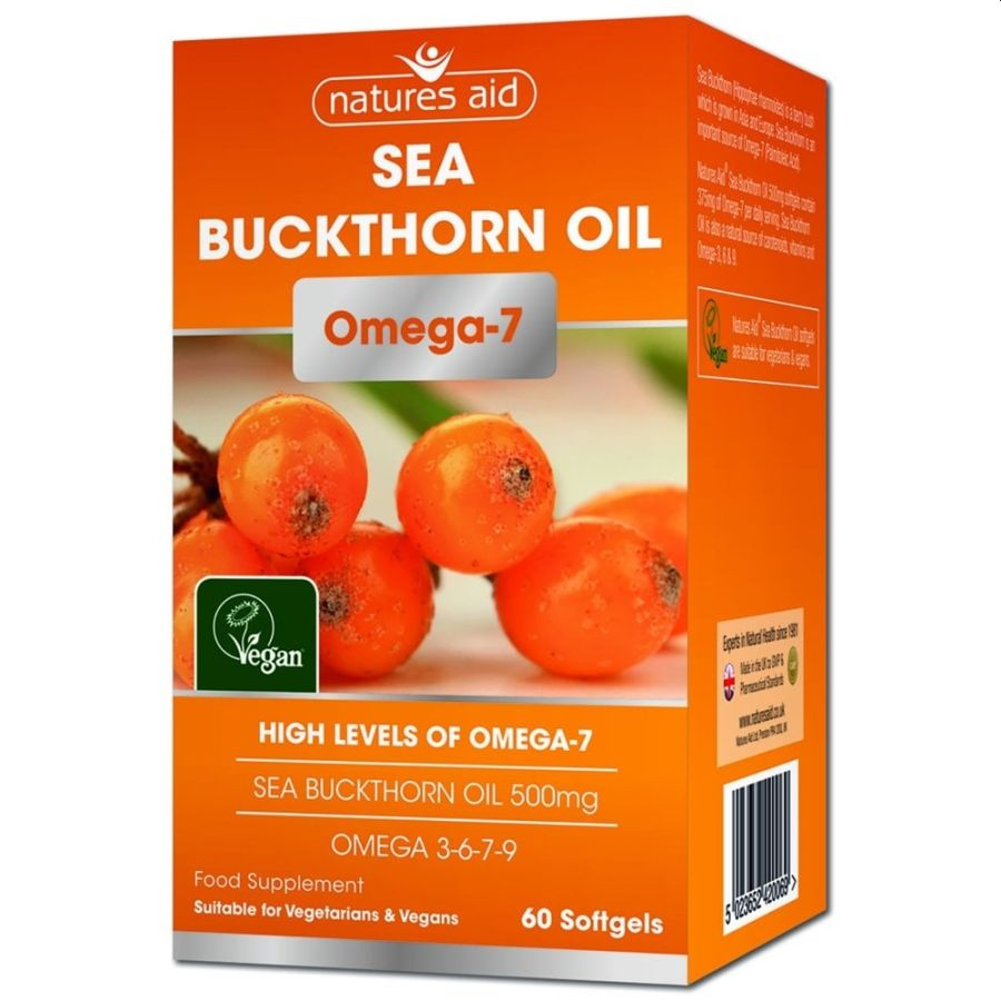 Natures Aid Sea Buckthorn Oil 500mg 90 capsules
