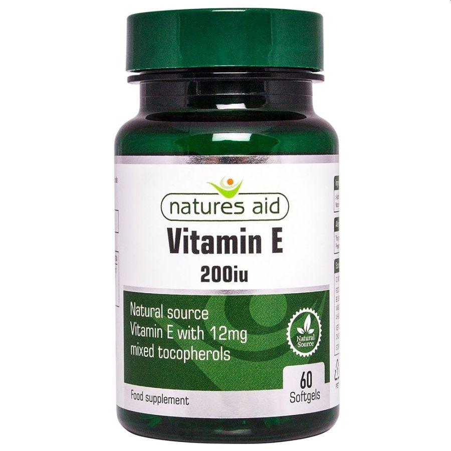 Natures Aid Vitamin E 200iu 60 softgels