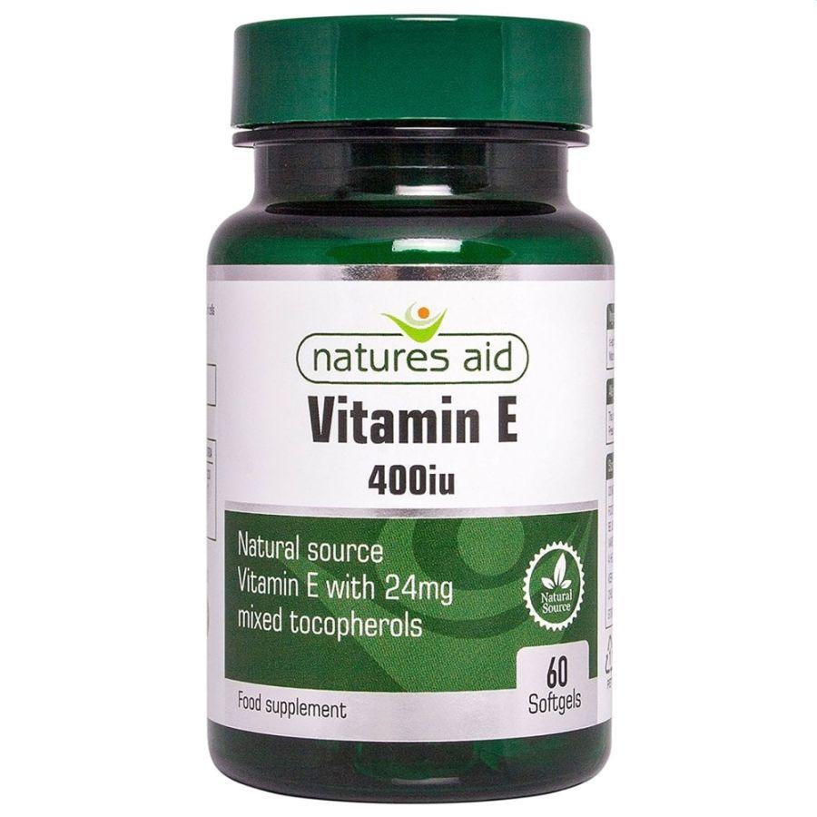 Natures Aid Vitamin E 400iu 60 softgels