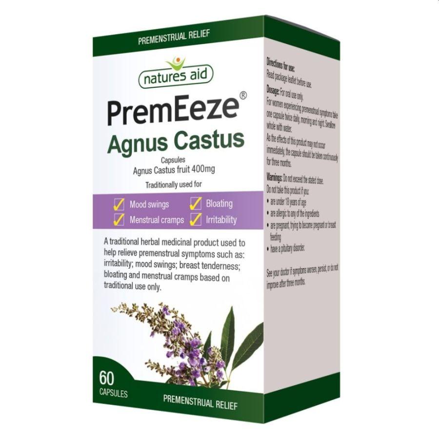 Natures Aid PremEeze Agnus Castus 400mg 60 capsules