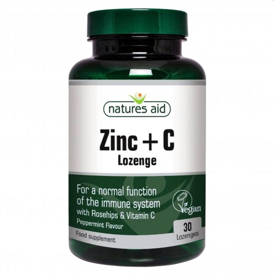 Natures Aid Zinc & C - 30 lozenges