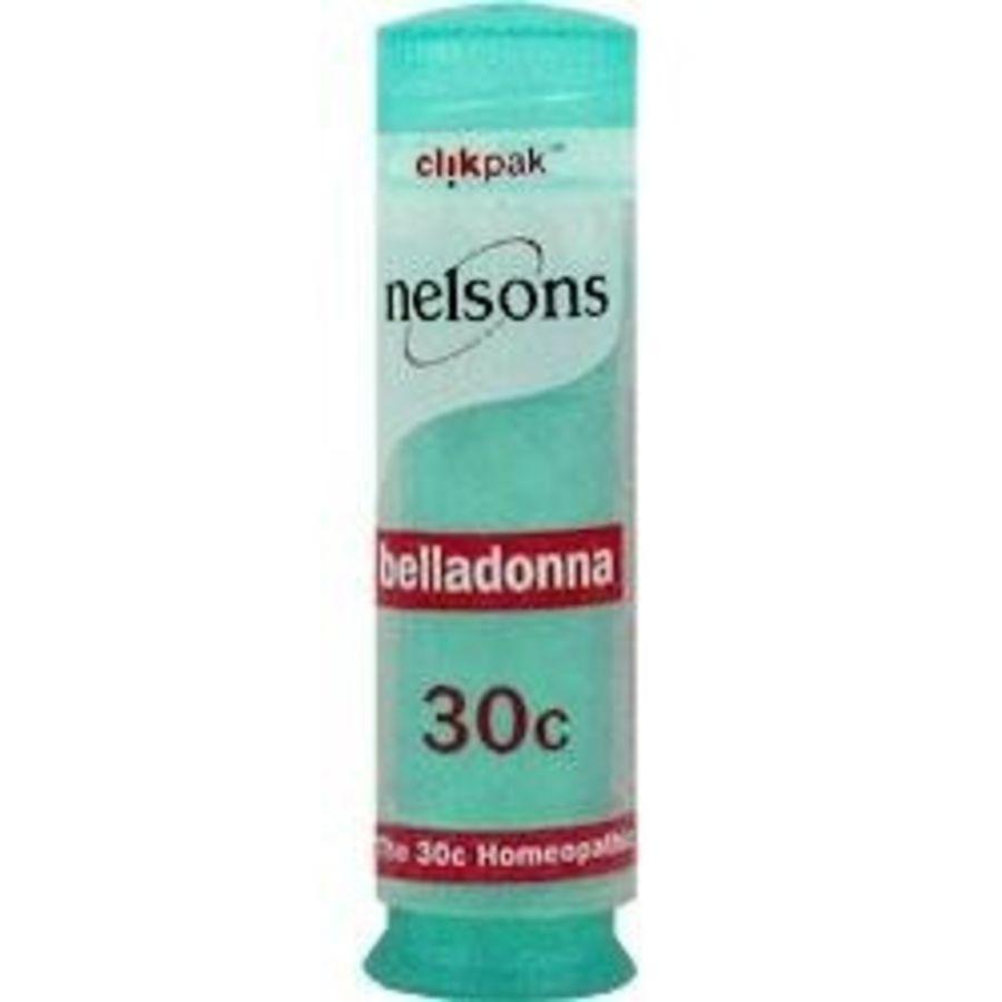 Nelsons Belladonna 30C - 84 Homeopathic Pillules