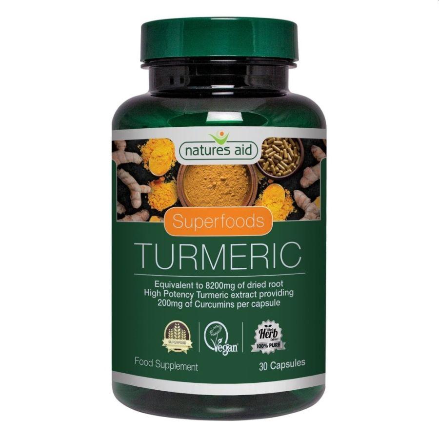 Natures Aid Turmeric 8,200mg 60 capsules