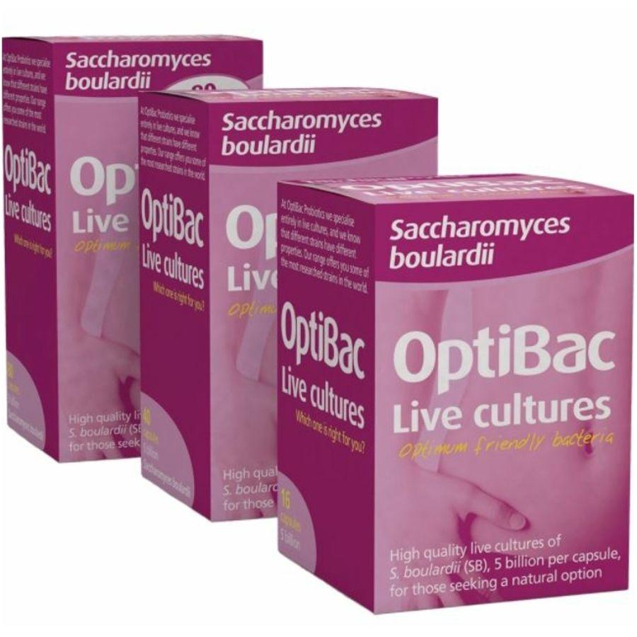 Optibac Probiotics Saccharomyces Boulardii 16 capsules
